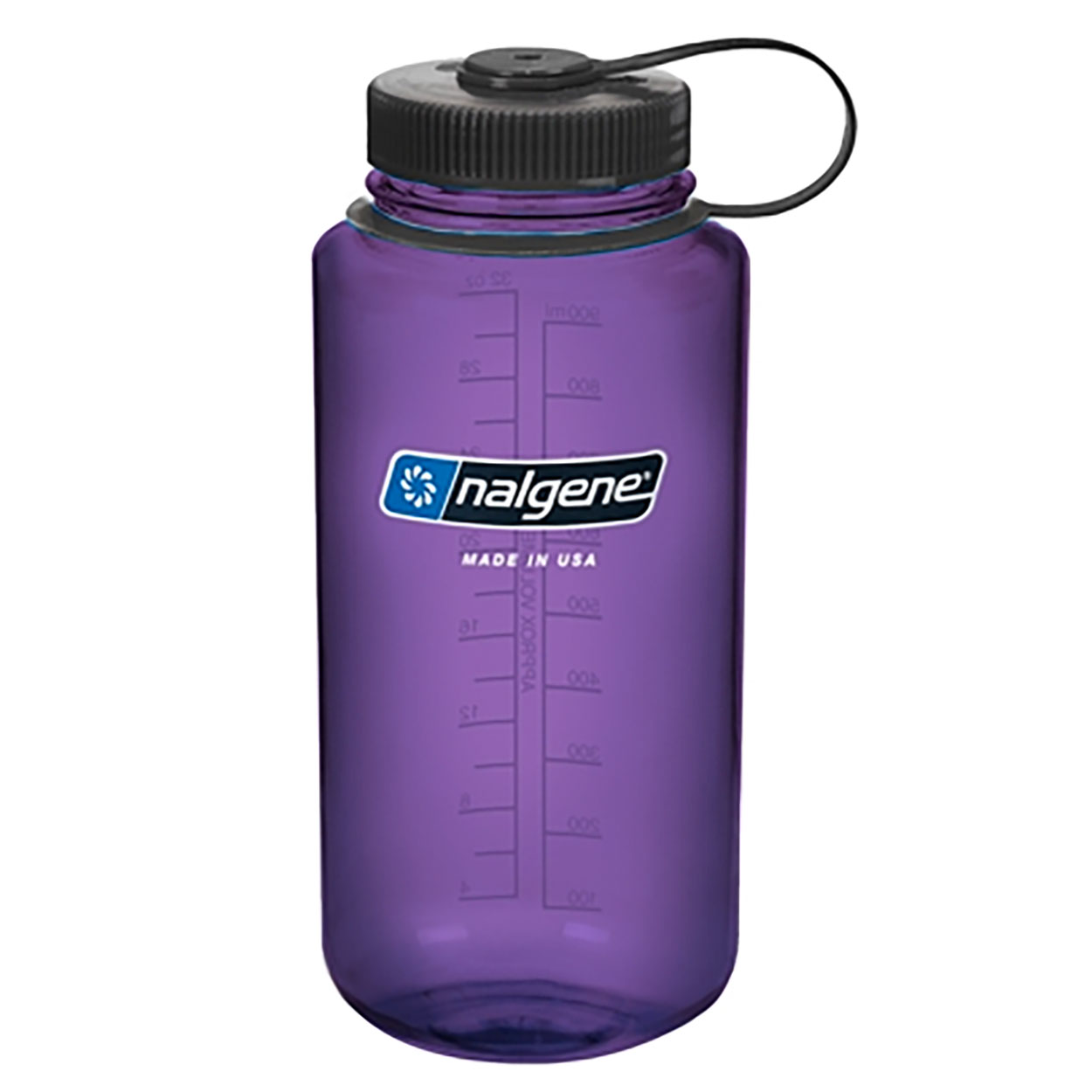 Nalgene Wide Mouth Water Bottle 32 Oz Purple W Black Cap